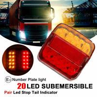 2x 12V LED Feux Indicateur Lampe Arrière Queue Arrêt Remorque Caravane Camion