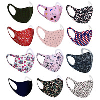 Face Mask Covering Washable Reusable 4 Layer Breathable Mens Womens Kids Mask
