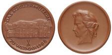 Schiller Museum Weimar Medaille 1988 Porzellan Meissen tadellos, W.4310.1