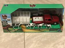 NewRay Country Life Ford F-350 and  Trailer 1:32 Die-Cast & Plastic animals ++++