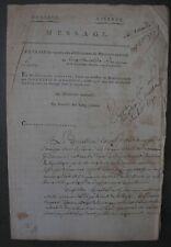 Conseil des Cinq Cents.Dépt de la Dyle (Bruxelles) organisation Gendarmerie.1796