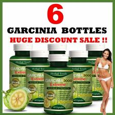 6 X BOTTLES GARCINIA CAMBOGIA CAPSULES- STRONGEST SLIMMING / DIET & WEIGHT LOSS