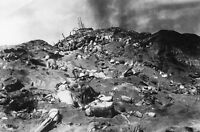 WWII photo American Marines on the taken Japanese position on Iwo Jima war 2i