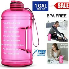 One Gallon Motivational Water Bottle with Times To Drink Marker & Hourly Hydrati