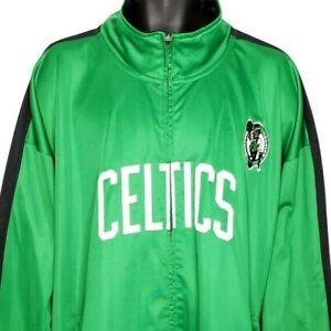 Boston Celtics Track Jacket NBA Basketball Full Zip Sewn Stitched Majestic 5XL