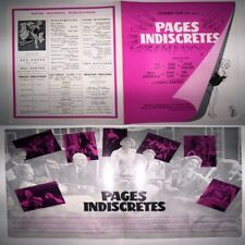 RARE PROGRAMME CINEMA PAGES INDISCRETES / GERALD THOMAS