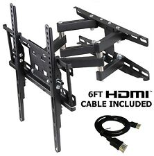 Full Motion TV Wall Mount LCD LED Articulating Bracket 32 - 55 Inch Flat Screen