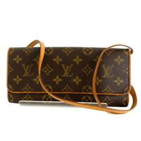LOUIS VUITTON Pochette Twin GM Shoulder Bag M51852 Monogram Brown Used LV