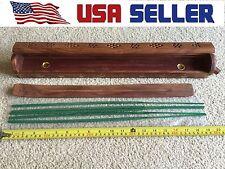 "US seller 20""Coffin Box & Jumbo Wood Incense Holder Ash Catcher"