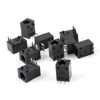 10 Pcs Black 3 Pin 3.5mm x 1.3mm DC Power Jack Socket PCB Mount HY