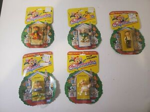 Lot Of 5 Ideal The Chipmunks Play Figures Alvin, Theodore, Eleanor, Uncle Harry
