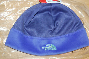 the north face womens agave beanie hat double layered ear band garnet purple NEW