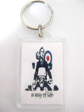 Quadrophenia Keyring A WAY OF LIFE MOD VESPA SCOOTER GIFT two sided Unique gift