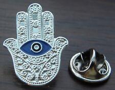 Hamsa Turkish Evil Eye Lapel Pin Badge Hand of Fatima Lucky Brooch