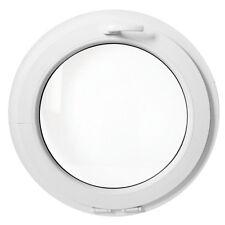 Fenêtre ronde à soufflet 500 550 600 650 700 800 900 1000 mm oeil de boeuf blanc