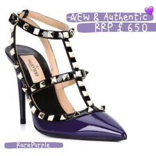 💜NEW💜Rare Purple| Valentino Rockstud Heel Shoes UK Size 3  EU 35.5 Women