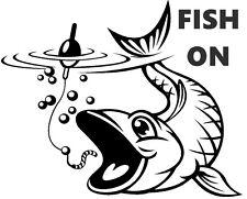 Peces Sobre, Carpa, Mar, Pesca Con Mosca, coche, furgoneta, barcos, Asiento Cajas Etiqueta, Sticker