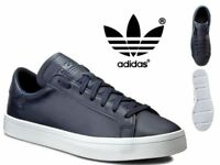 Adidas Originals Court Vantage Mens Leather Trainers shoes - S76209 Navy
