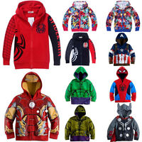 Kids Boys Superhero Cosplay Costume Hoodies Coat Toddlers Clothes Jacket Outwear