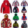 Toddler Kids Boy Cartoon Superhero Coat Outerwear Hooded Jackets Winter Costumes