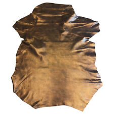 SALE Copper Snakeskin Print Genuine Leather Hides Craft Upholstery Material 402