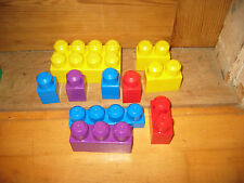 MEGA BLOKS ASSORTED COLOURED SHAPED LARGER CONSTRUCTION BRICKS FOR OWN CREATIONS