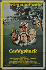 CADDYSHACK 1980 ORIGINAL 27X41 MOVIE POSTER BILL MURRAY CHEVY CHASE