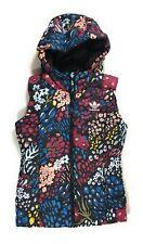 Adidas Women's XS Slim Vest AOP Multi Colored Floral Hooded Zip Vest MSRP $90