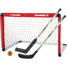 Kids Street Hockey Set Mini Goal Folding Sports Net with 2 Stick and Hockey Ball