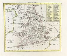 Map of England & Wales engraved for Walkers Geography 1801 fine coloured antique
