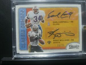 2016 Classic Combos Earl Campbell Ricky Williams Dual Autograph Numbered 10/25!!