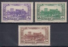 Libanon Lebanon 1940 ** Mi.235/37 Bacchus- Jupitertempel Akropolis Baalbeck