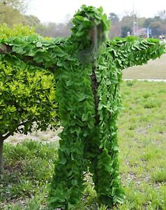 CAMOUFLAGE GREEN LEAVES HUNTING GHILLIE SUIT SNIPER CLOTHING JACKET TROUSERS