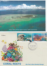 "2013 Coral Reefs pair of booklet stamps on limited edition ""K"" Covers FDC"