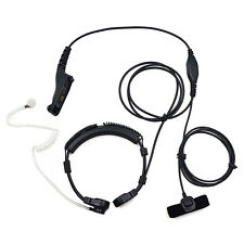 Military Throat Mic Headset Earpiece for Motorola XPR6300 XPR6550 XPR6580 DP3600