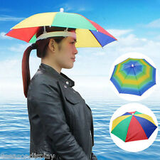 New Foldable Umbrella Sun Hat Golf Fishing Camping Fancy Dress Multicolour
