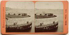Cherbourg Batterie du Musoir France Photographie B.K. Paris Stereo Albumine