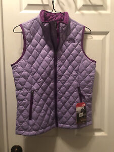 Girls The North Face Thermoball Vest Large BNWT Violet Purple