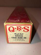 QRS Player Piano Word Roll 9659 Hawaiian Wedding Song Ke Kali Nei Au Ted Baxter