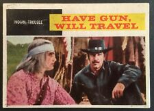 Vintage 1958 Topps TV WESTERNS card #32 INDIAN TROUBLE- combined ship