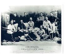 1882 CINCINNATI RED STOCKINGS 8X10 TEAM PHOTO  BASEBALL HOF OHIO USA