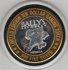 VINTAGE 1995 Bally's LV at TOP Running 7 GDC .999 Fine Silver $10 Casino Token