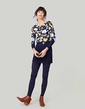 Joules Navy Bouquet Border Quinn Tunic Top With Pockets Size 10
