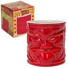 "Love Tiki Red Ceramic Mug - 4"" tall and holds 16 fl. oz. delicious tiki cocktail"