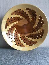 Dekoschale, Obstschale aus Holz, Segmentschale handgemacht, Designschale