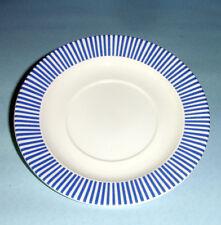 "Gien La Ronde Des Fruits Tea Saucer Blue Stripes 6-1/4"" French Faience"