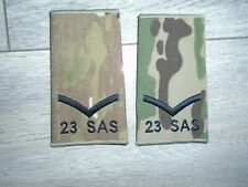 More details for special forces 23 sas mtp rank slide lance corporal genuine british army  pair