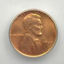 1947 LINCOLN WHEAT CENT ICG MS67 RED RARE THIS NICE! LISTS FOR $1,450