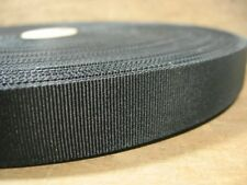"Vintage Crossgrain Ribbon Trim Millinery 120 YDS Black NOS 3/4"" Crafts Hat Trim"
