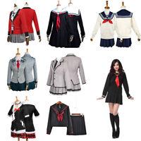 Japanese JK School Uniform Anime Sailor Women Girl Costume Cosplay Outfit Dress
